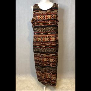 Danny and Nicole 2 piece tribal print dress